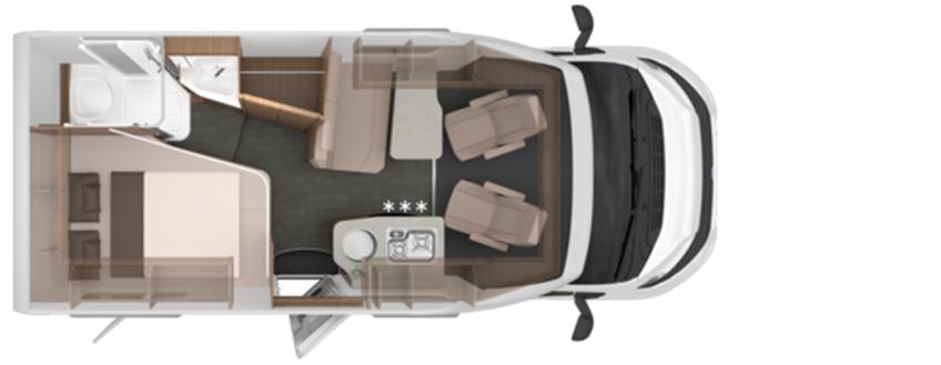 Knaus Van Ti 550 mf indeling