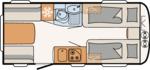 Dethleffs Camper 460 EL Indeling