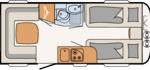 Dethleffs Camper 470 ER Indeling