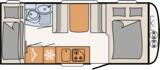 Dethleffs Camper 500 QSK Indeling