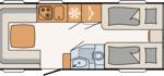 Dethleffs Camper 510 ER Indeling