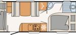Dethleffs Camper 530 FSK Indeling