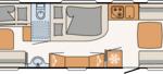 Dethleffs Camper 740 RFK Indeling