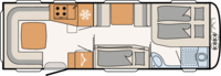 Dethleffs Exclusiv 730 FKR Indeling