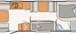 Dethleffs Camper 730 FKR Indeling