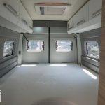 Bed achterin de Knaus Boxdrive 680 ME First Edition