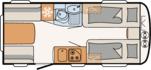 Dethleffs Camper Avantgarde 460 EL Indeling