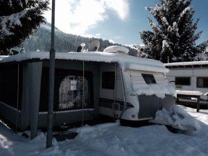 Winterkamperen Hobby caravan