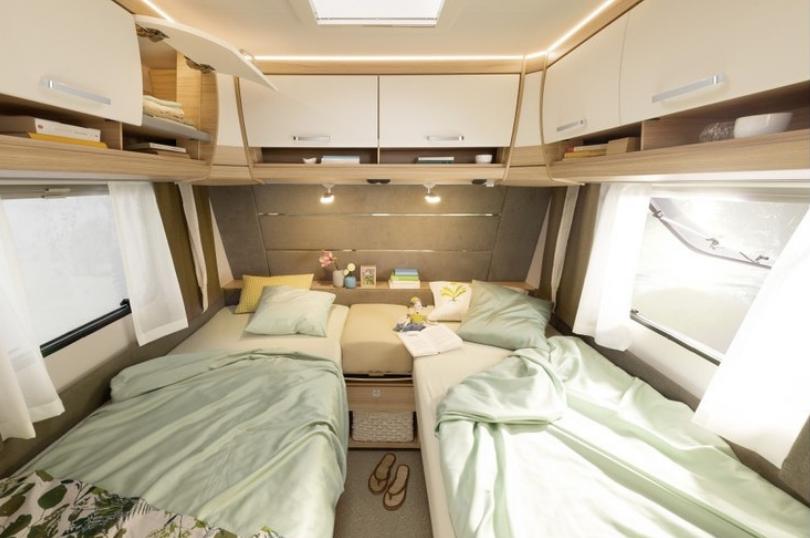 caravan enkele bedden