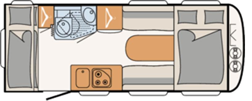 Dethleffs C-Joy 480 qlk indeling
