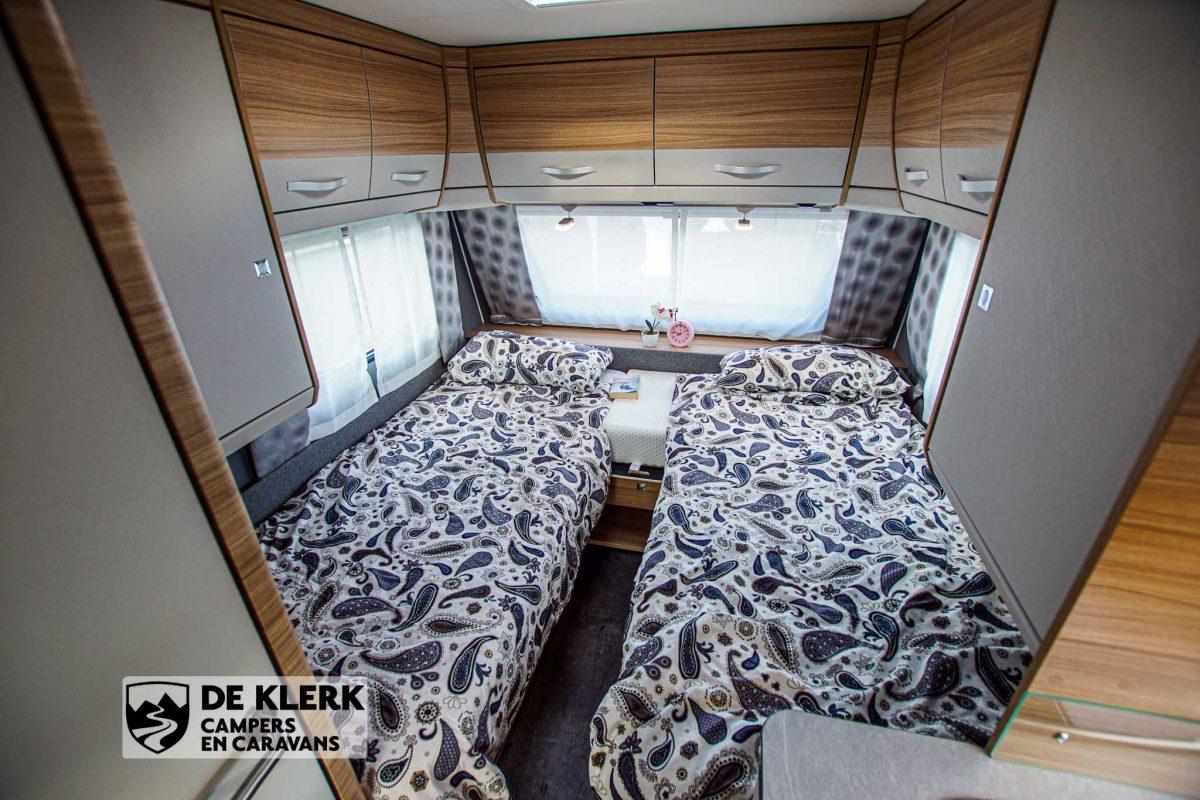 Dethleffs camper 460 EL lengte bedden