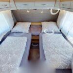 Dethleffs camper 470 ER lengte bedden