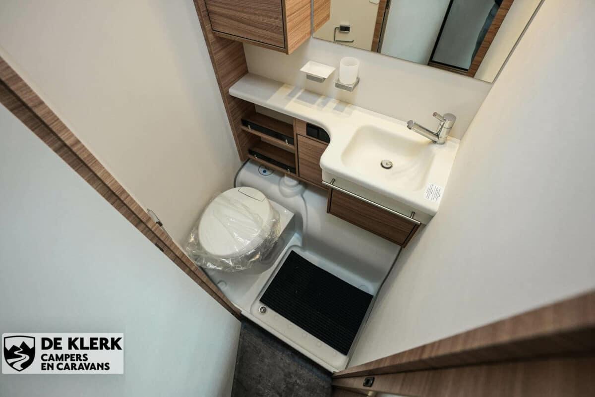 Dethleffs camper 500 qsk toilet