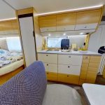 Dethleffs camper 530 FSK keuken 1