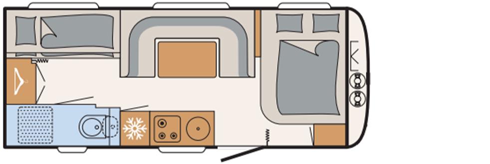 Dethleffs Beduin Scandinavia 540 qmk indeling