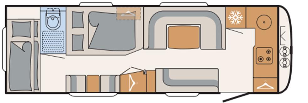 Dethleffs Beduin Scandinavia 740 bfk indeling