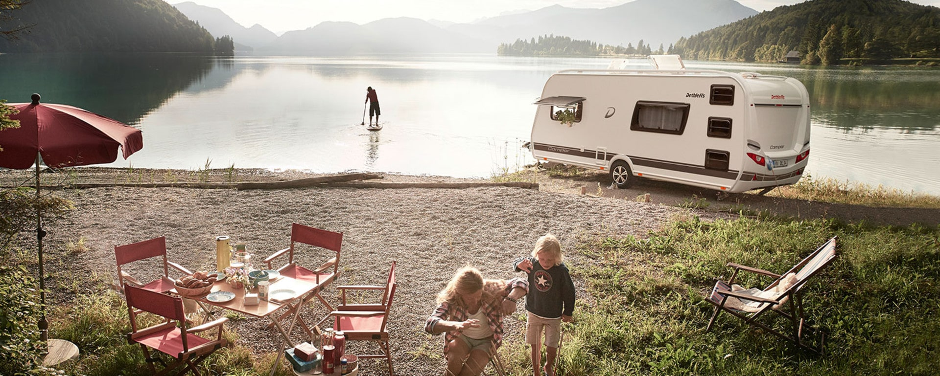 Dethleffs caravan camper banner