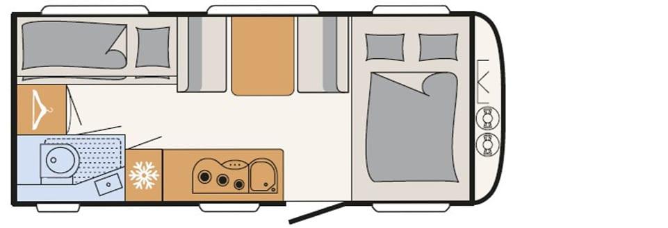 Dethleffs Aero 490 QSK indeling