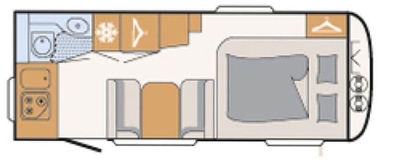 Dethleffs C-Joy 480 FSH indeling