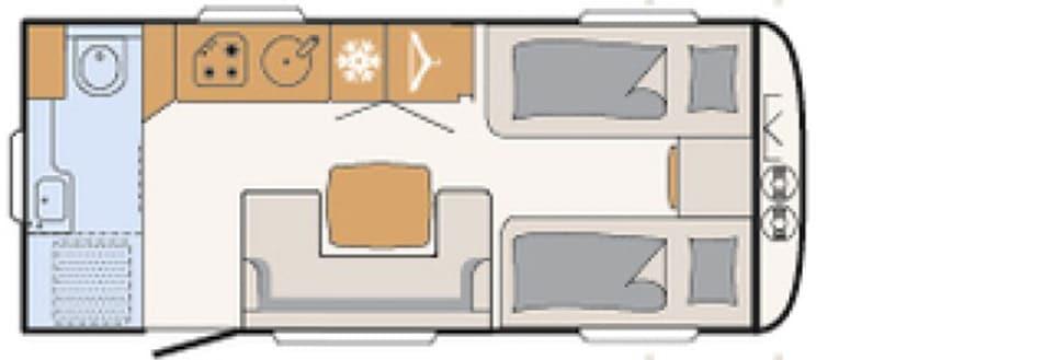 Nomad 520 ELT indeling